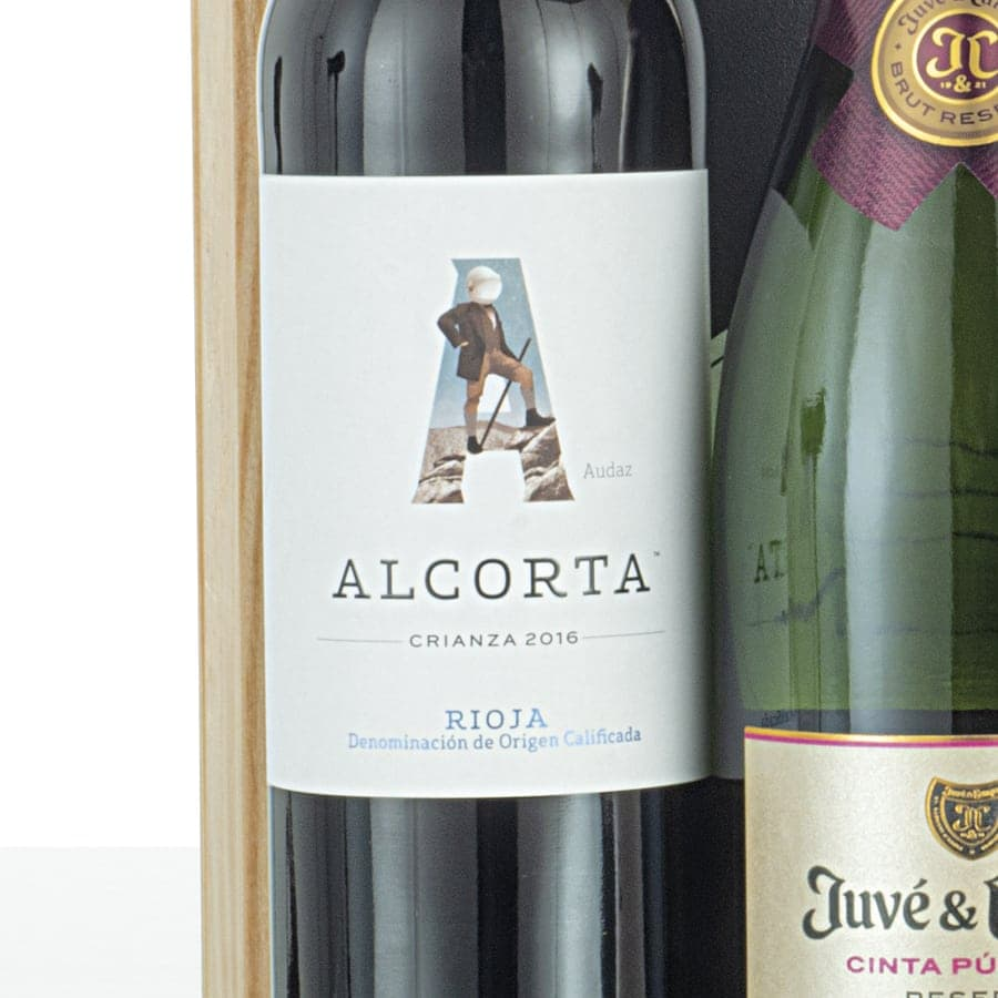 Caja de vinos madera 301