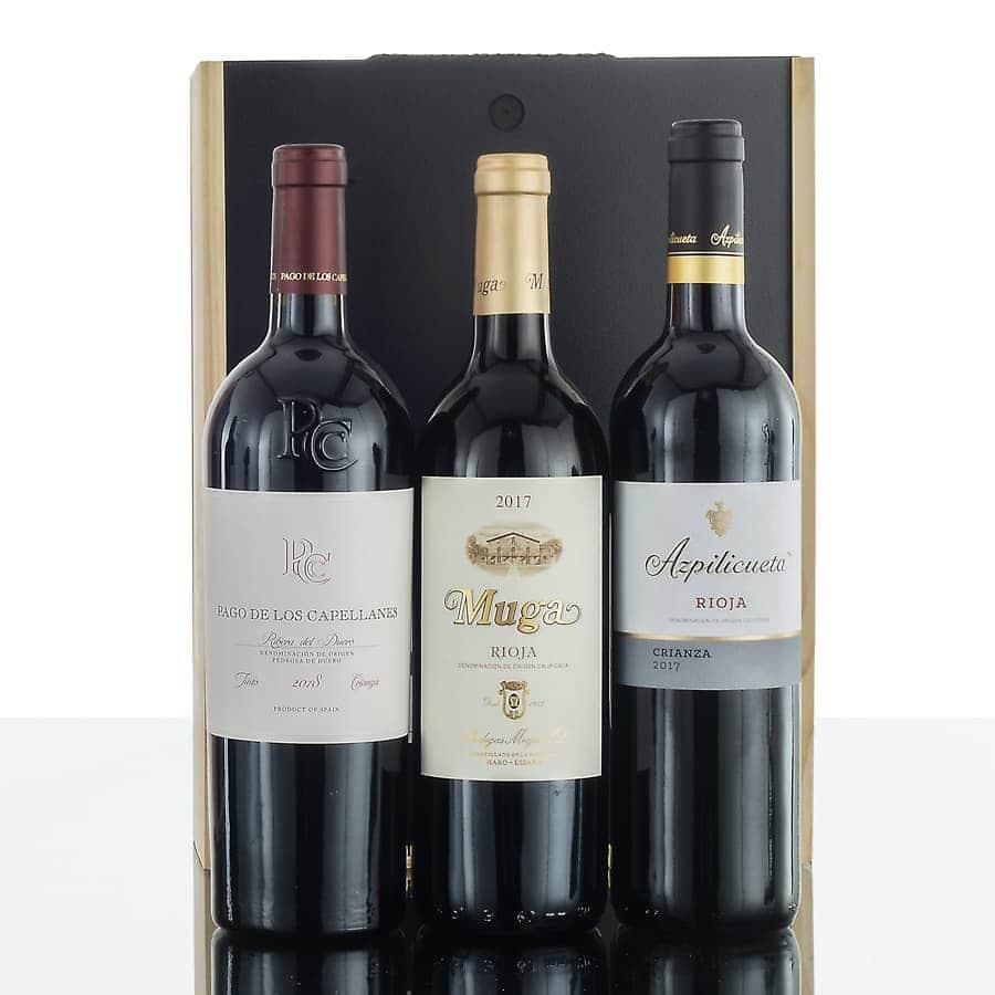 Caja de vinos madera 306